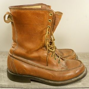 Vtg Gold Bond Hunting Work Lace Up Boots Men's 9